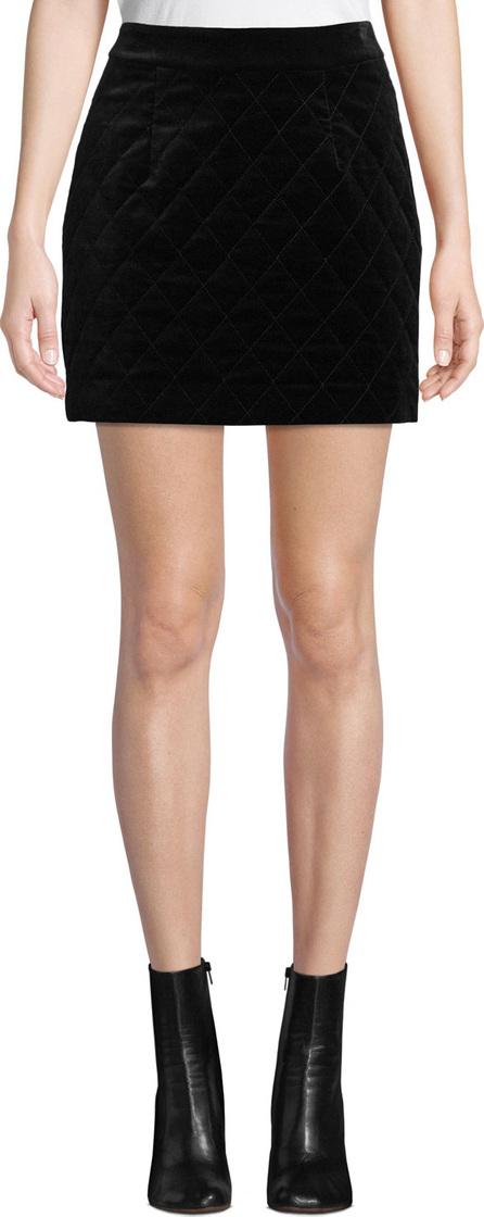 FRAME DENIM Velvet Quilted Mini Skirt