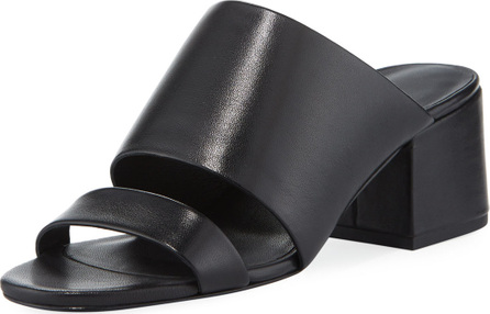 3.1 Phillip Lim Cube Leather Block-Heel Slide Sandal
