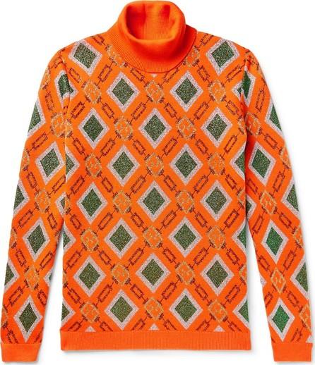 Gucci Wool-Blend Jacquard Rollneck Sweater