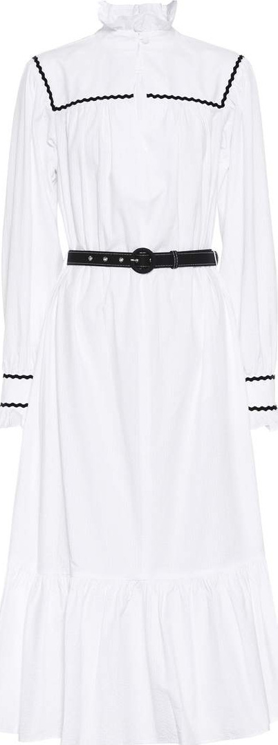 Alexachung Striped cotton maxi dress