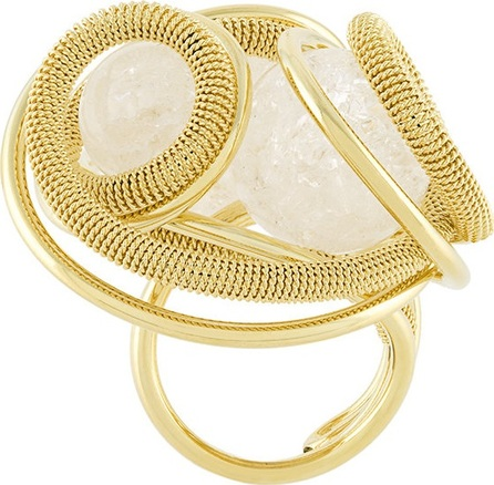 Francesco Barbato chain strand bead ring