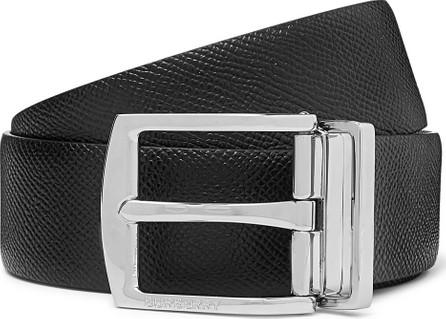 Burberry London England 3.5cm Black Textured-Leather Belt
