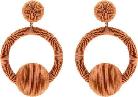 Rebecca de Ravenel Iman hoop-drop earrings