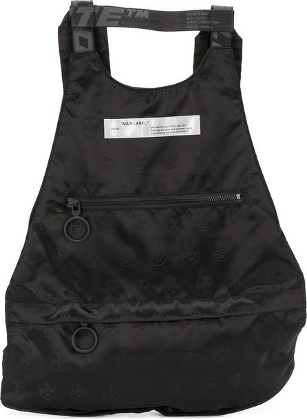 Off White Logo-jacquard backpack