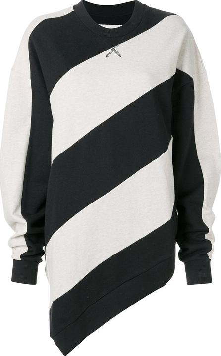 Marques'Almeida Striped print sweatshirt