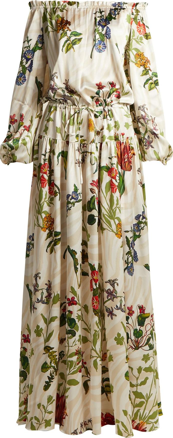 Adriana Iglesias - Creek floral-print silk-blend gown