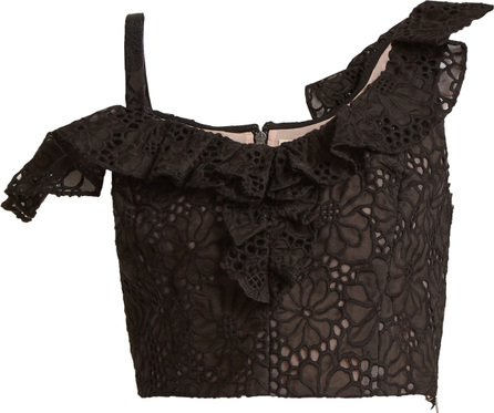 Rebecca Taylor Malorie floral-lace embroidered silk top