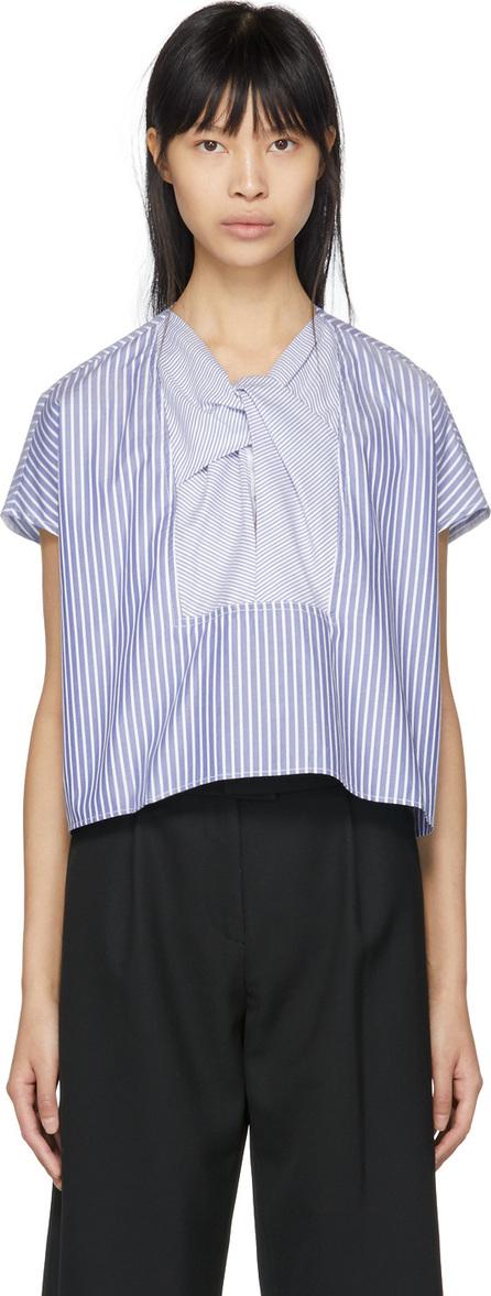 Carven Blue & White Stripe Blouse