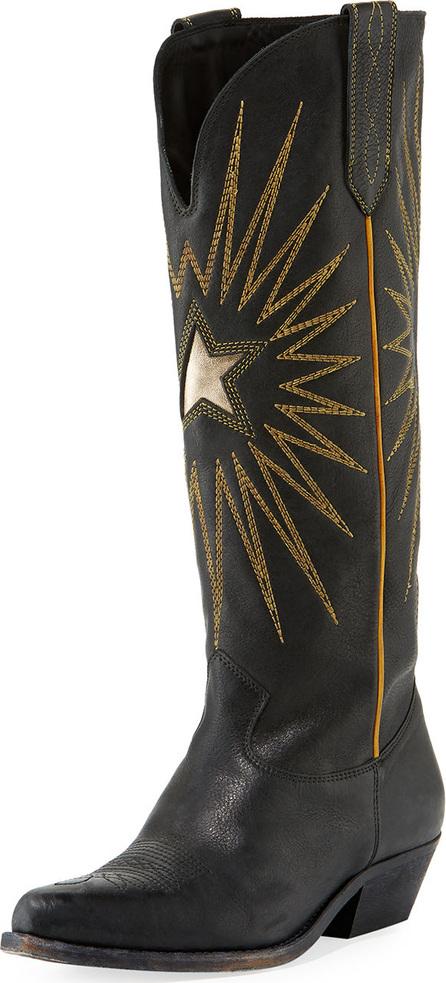 Golden Goose Deluxe Brand Wish Star Cowboy Knee Boot