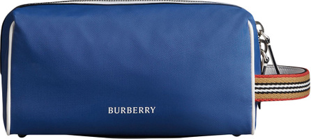 Burberry London England Heritage Ribbon detail zip pouch