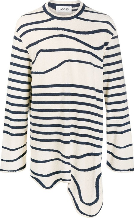 Lanvin Asymmetric striped jumper
