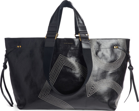 Isabel Marant Wardy Embroidered Logo Tote
