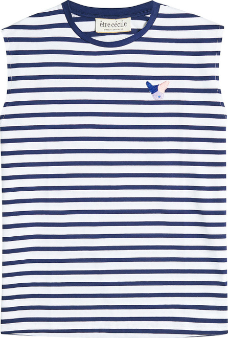 Etre Cecile Striped Boyfriend Tank with Patch