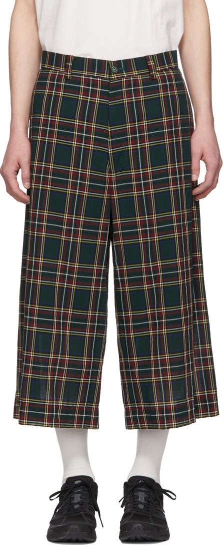 FACETASM Green Plaid Wide Pants