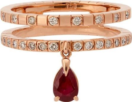 Diane Kordas Spectrum 18kt rose-gold, diamond & ruby ring