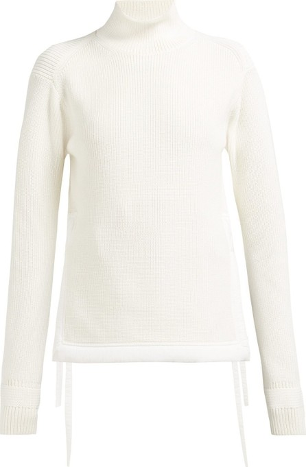 Helmut Lang Tie-up mock-neck cotton sweater