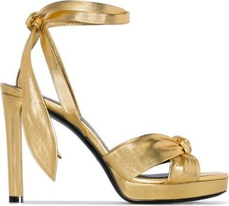 Saint Laurent Knot Metalic Strappy Heels