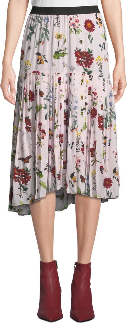 Joie Talise Floral-Print Flounce Midi Skirt