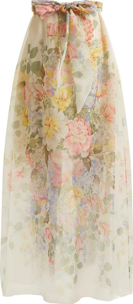 Gucci Floral-print silk skirt