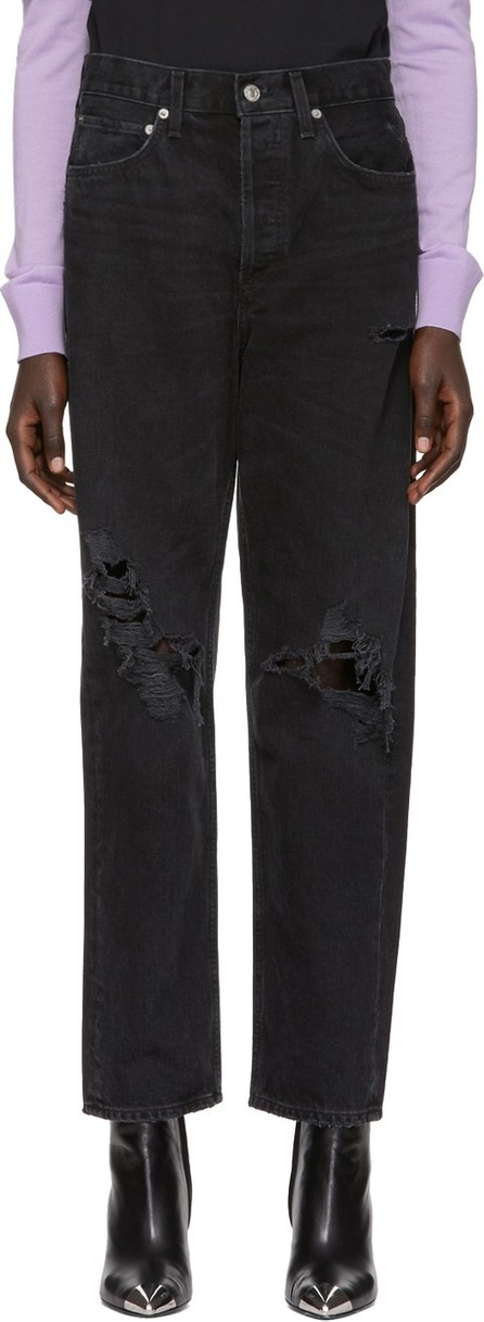 Agolde Black 90's Mid-Rise Loose Fit Jeans