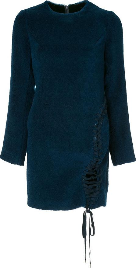 FACETASM Facetasm x Woolmark lace-up fastening detailed dress