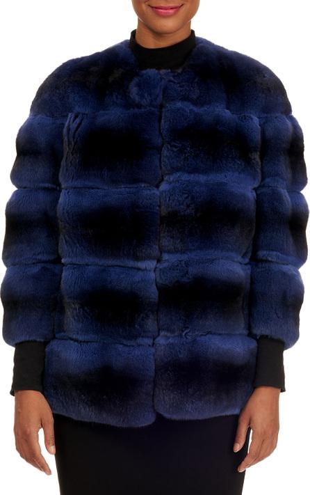 Gianfranco Ferre Horizontal Chinchilla Fur Jacket