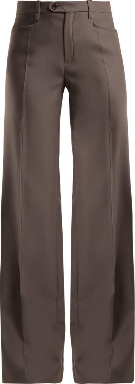 Chloe Mid-rise wide-leg wool-blend trousers