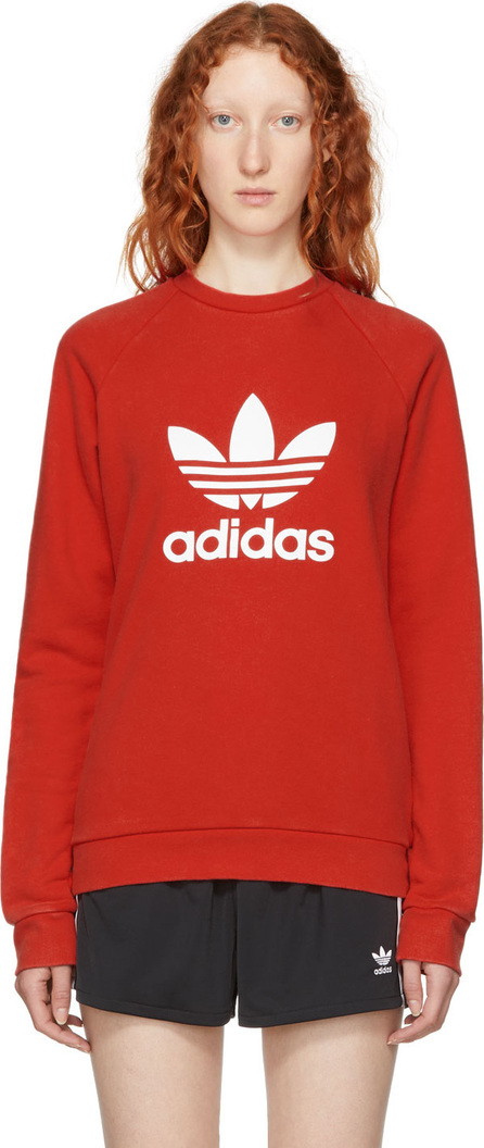 Adidas Originals Red Warm-Up Sweatshirt