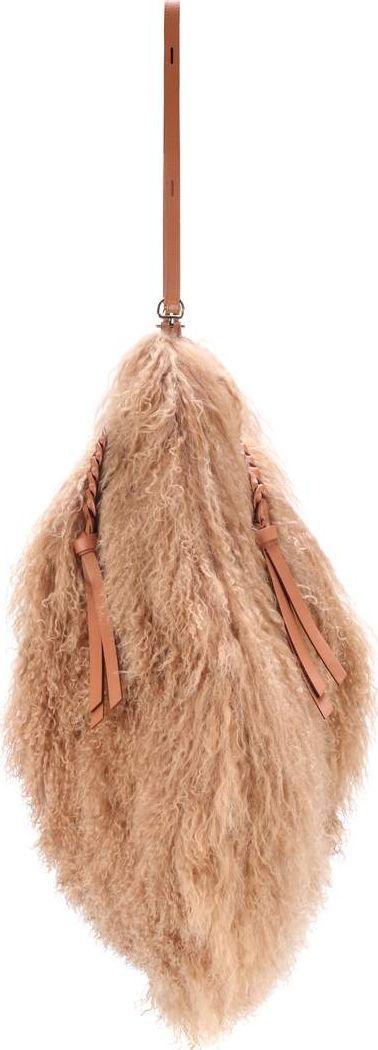 Nina Ricci Tupi Large shearling shoulder bag