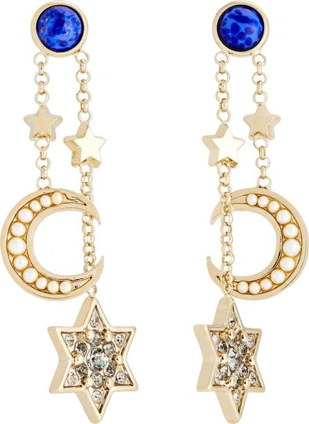 Etro Crystal-embellished moon and star drop earrings