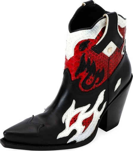 Valentino Flames Ranch Western Booties