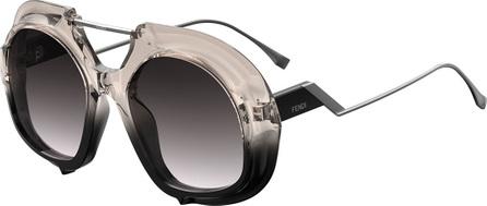 Fendi Ombre Sunglasses with Brow Bar