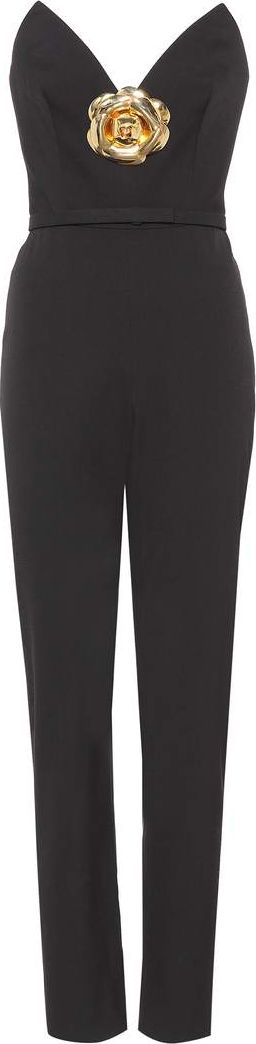 Oscar De La Renta - Strapless wool-blend jumpsuit