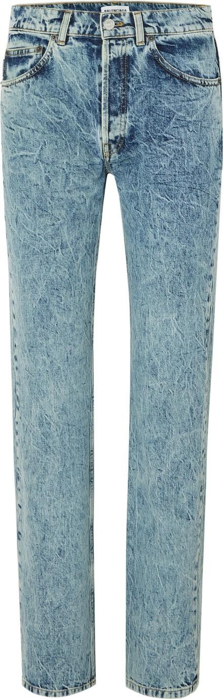 Balenciaga Faded high-rise straight-leg jeans