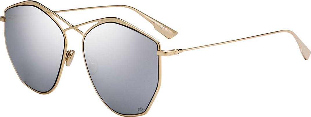 Dior - Stell4 Mirrored Crisscross Sunglasses