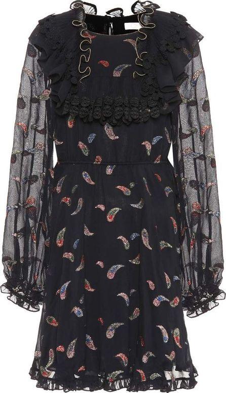Chloe Silk-blend fil coupé dress