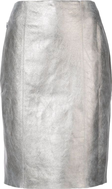Akris fitted knee length skirt