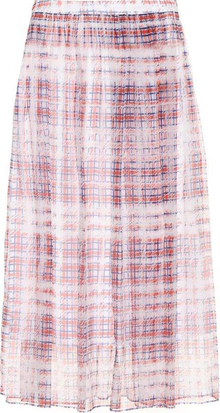 Burberry London England Checked silk-chiffon skirt