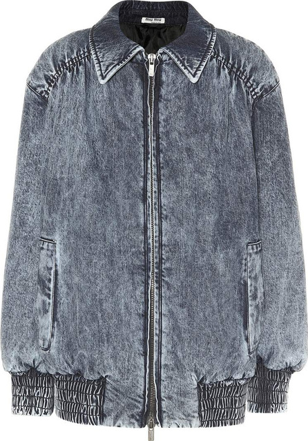 Miu Miu Denim bomber jacket