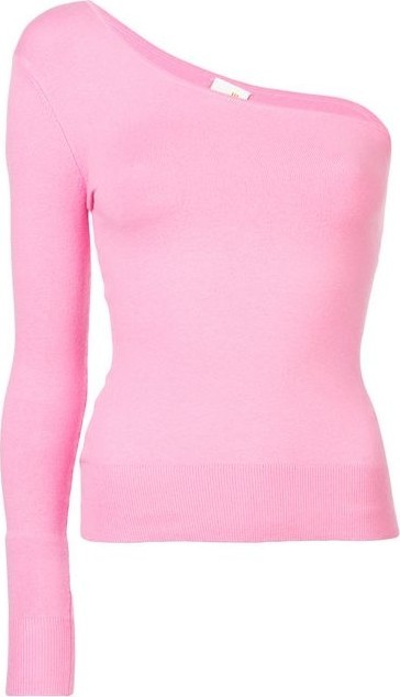 Joos Tricot Pink One-Shoulder Sweater