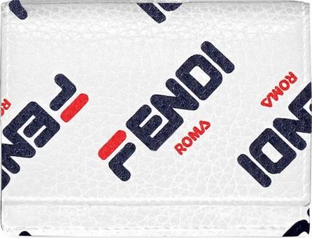 Fendi Fendi Mania Micro Leather Tri-Fold Wallet