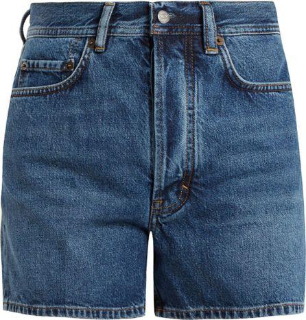 Acne Studios Swamp high-rise denim shorts