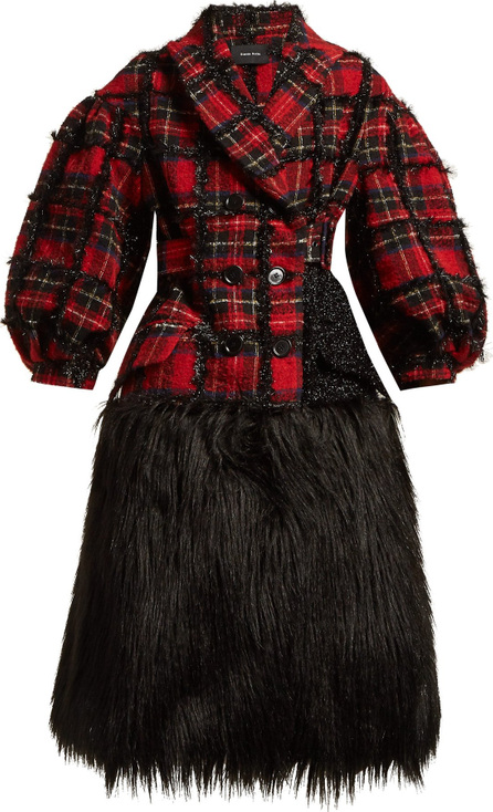 Simone Rocha Checked tweed coat