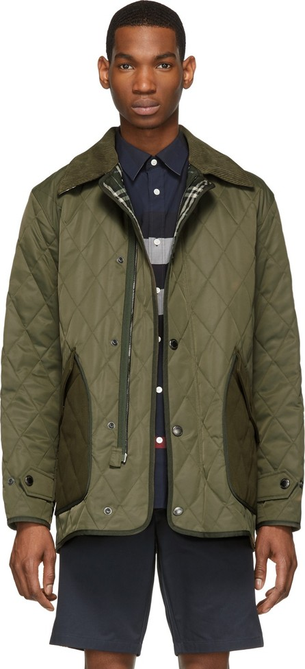 Burberry London England Green Quilted Tyneside Jacket