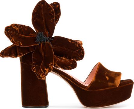 ROCHAS Oversized flower sandals