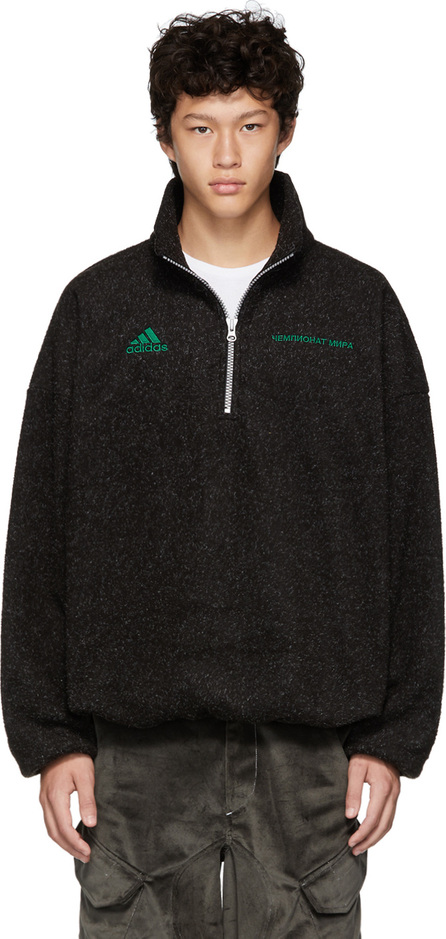 Gosha Rubchinskiy Black adidas Originals Edition Half-Zip Sweater