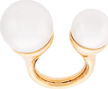 Floating faux pearl ring