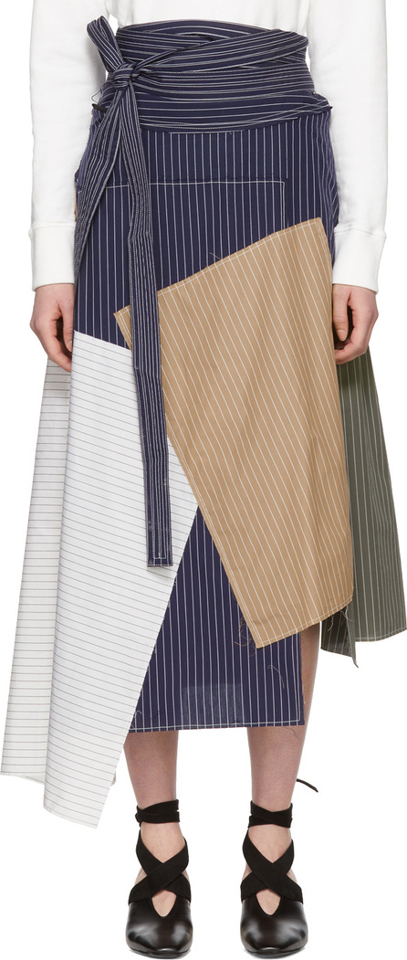 J.W.Anderson Navy Patchwork Skirt
