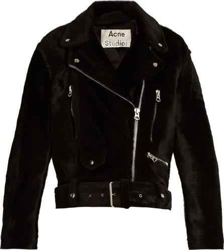 Acne Studios Merlyn oversized shearling biker jacket