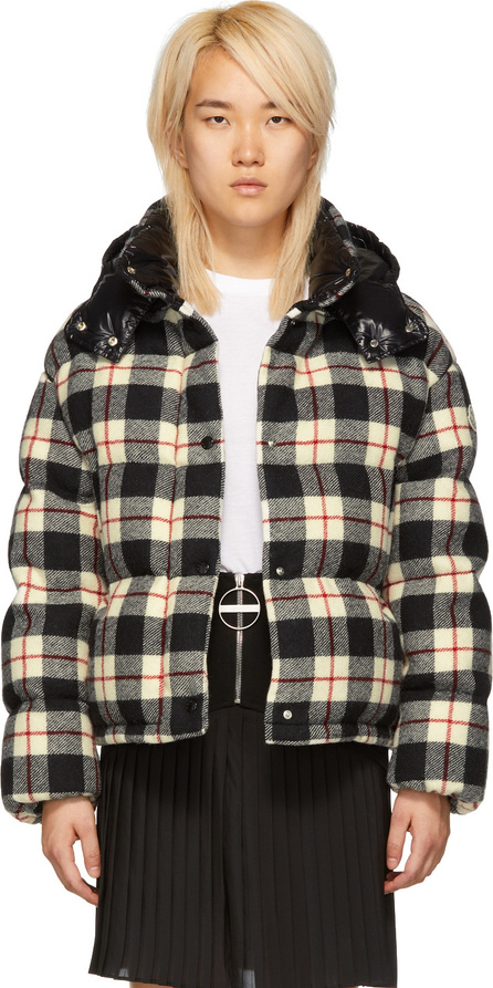 Moncler Black Check Caille Down Jacket